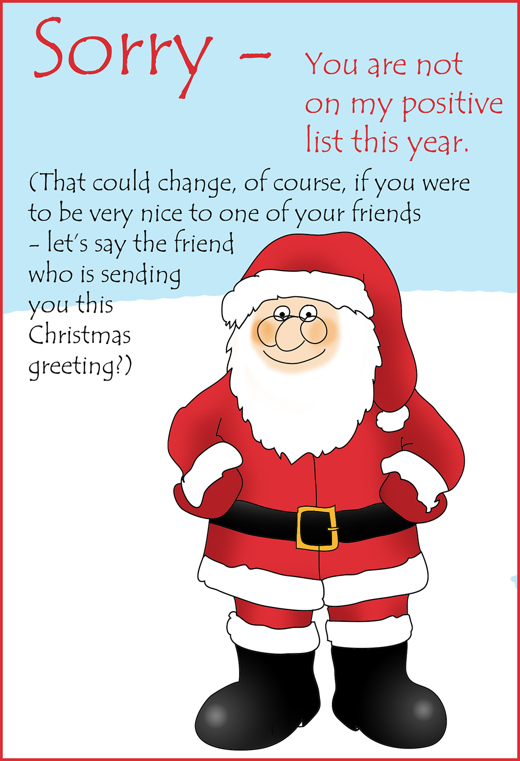 printable christmas card for a friend