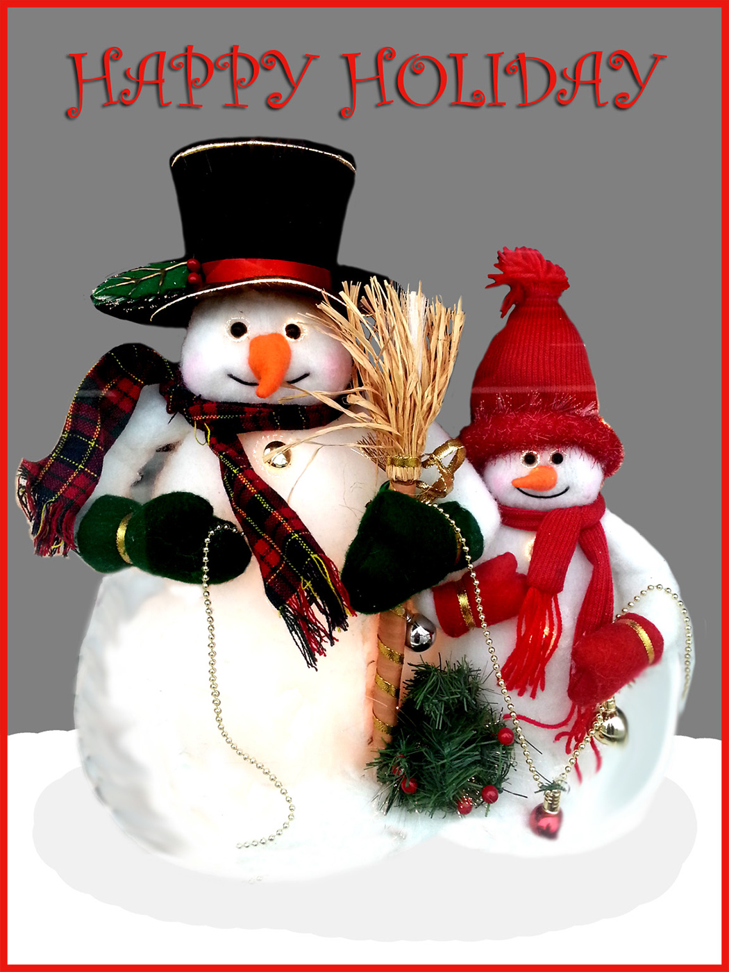 Two Snowmen With Christmas Wish If You Want To Find More Free Printable Cards